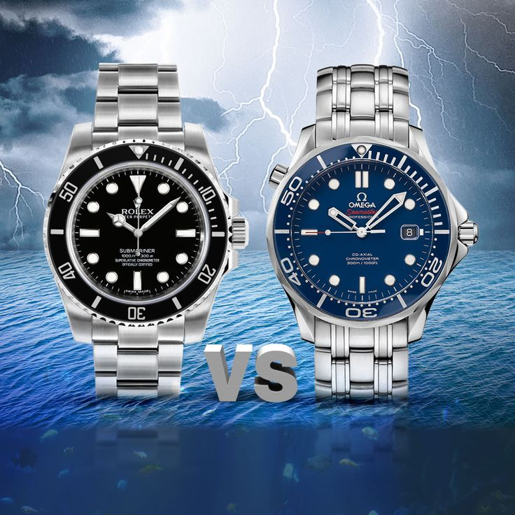 Omega Seamaster VS Rolex Submariner. Which of these two iconic divers watches are the best? Let's compare the Omega Seamaster Versus Rolex Submariner watches and you be the judge.
