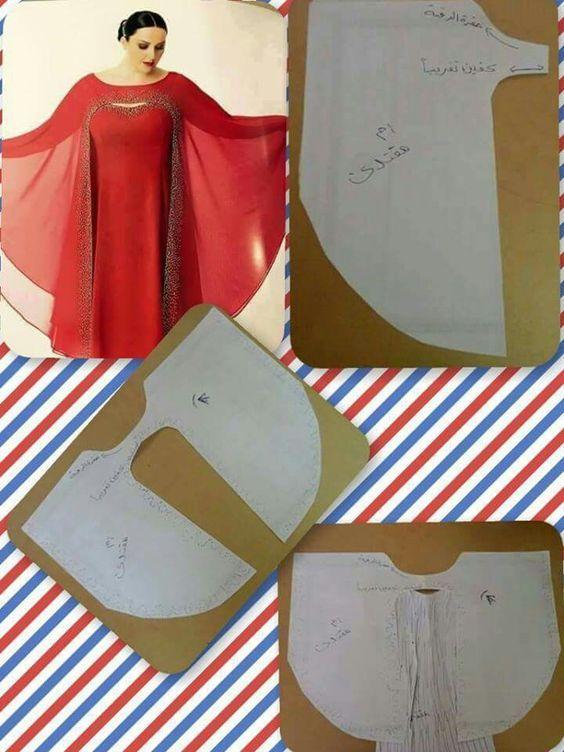 cape over caftan....great idea!                                                                                                                                                     More:
