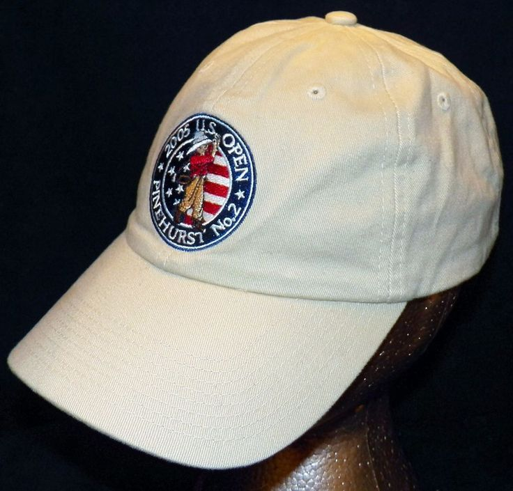 2005 US Open Golf Championships Pinehurst No 2 USGA Member Tan Baseball Hat Cap #USGA #BaseballCap