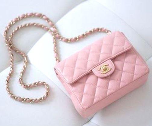 Blush pink Chanel Mini Flap bag