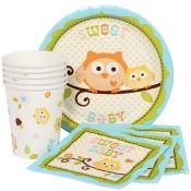 Owl Baby Shower Blue Munch Pack for 8