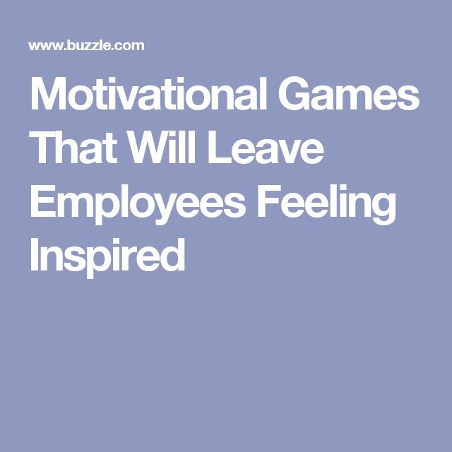Motivational Games That Will Leave Employees Feeling Inspired