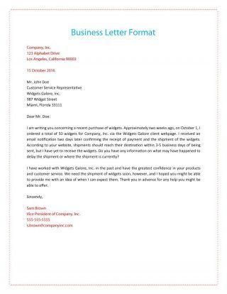 Oltre 25 fantastiche idee su Formal business letter su Pinterest - official business letter format