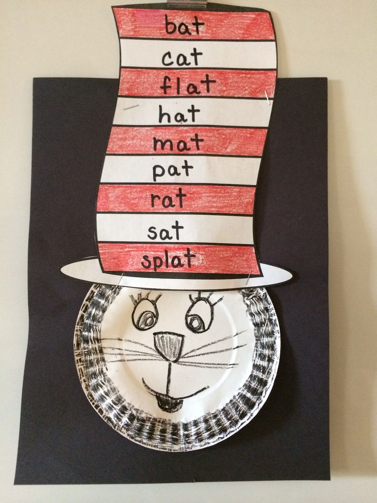 Cat in the hat, rhyming words, Dr. Seuss | Rhyming words ...
