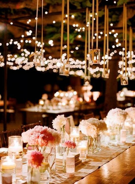 Hanging Candles For Outdoor Wedding Lighting Tea Lights Are Inexpensive