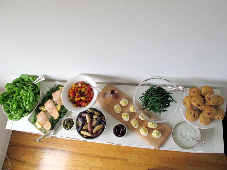 Deconstructed Nicoise Salad Buffet