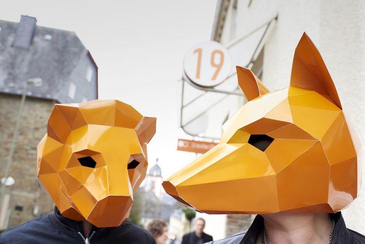 masken, orange, shooting, werbeagentur [raster]fabrik gmbh,  fuchs, löwe, oberstadt, siegen, agentur
