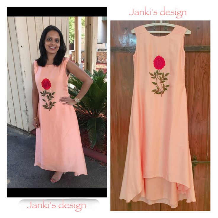 A Rosyaffair beautiful dress! #cutommade #happyclient #clientdairies #customerappreciation #instlike #instadaily #fashion #gorgous #love #indianwear #weddingwear #handcrfted #handmadewithlove #ethnic #ootd #bestoftheday #designer #picoftheday #fashiondiaries #silkdress #peachcolor #roses #fashionlovers #by @jankisdesign