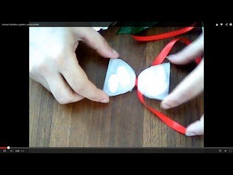 tutorial farfallina papillon portaconfetti - YouTube