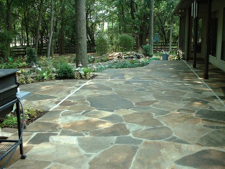 We could finally build that flagstone patio we've always wanted.