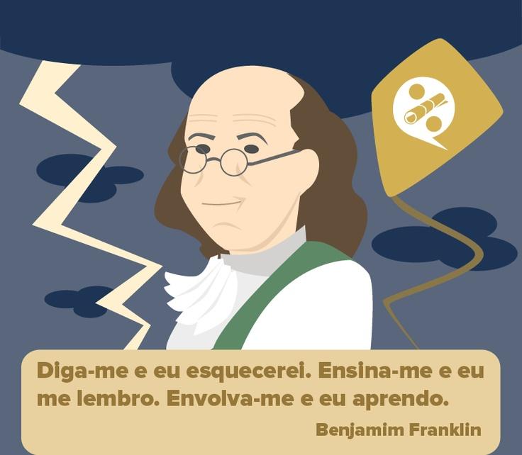 Benjamim Franklin - Homenagem http://www.querobolsa.com.br