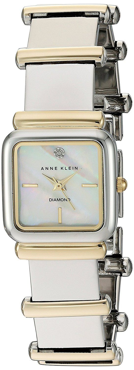 Anne Klein Women's Quartz Metal and Alloy Dress Watch, Color:Two Tone (Model: AK/2503MPTT) *** Click image for more details.