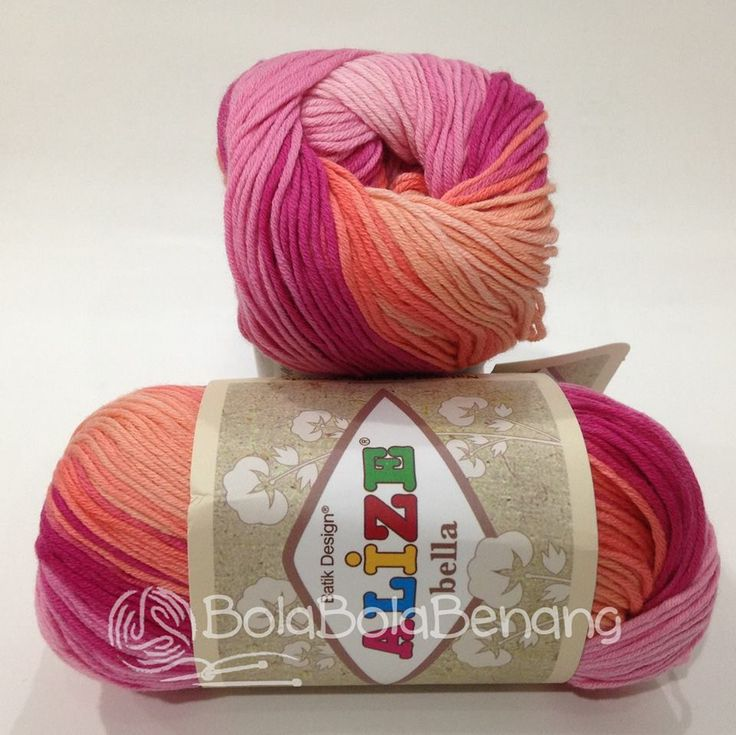 Alize Bella Batik 3264, Price: Rp.65.000,- /gulung, Bahan: 100% COTTON, Berat/Panjang: 50gram/180mt, Knitting Needles: 2mm - 4mm, Crochet Hook: 1mm - 3mm