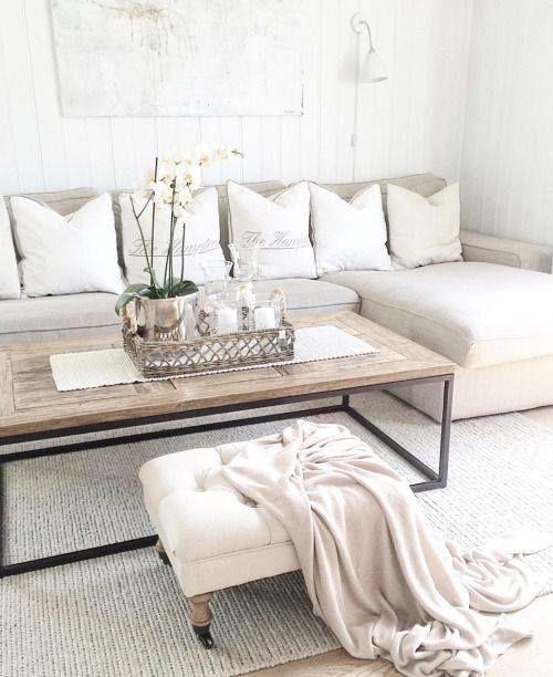 Best La table basse industrielle bois et noir booste la d coration blanche et beige tr s naturelle de