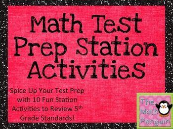 Math Test Prep Station Activities (5th Grade)