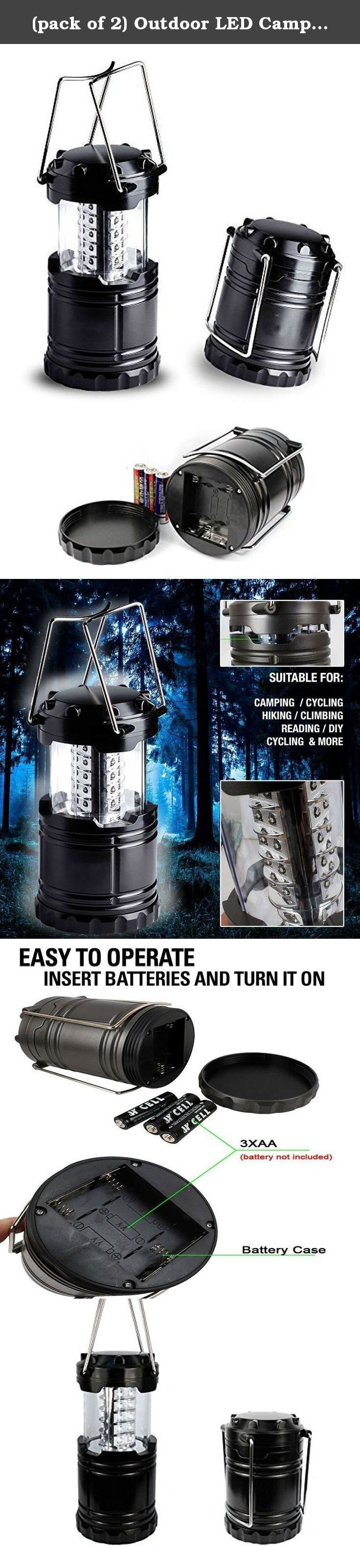 (pack of 2) Outdoor LED Camping Lantern Flashlights Set , Kenor Portable LED Camping Light Emergency Light 30 LEDs, Battery Powered, Home Garden Camping Lanterns for Hiking, RV,Emergencies, Hurricanes. USA SELLER FAST SHIPPING SATISFACTION GUARANTEED.