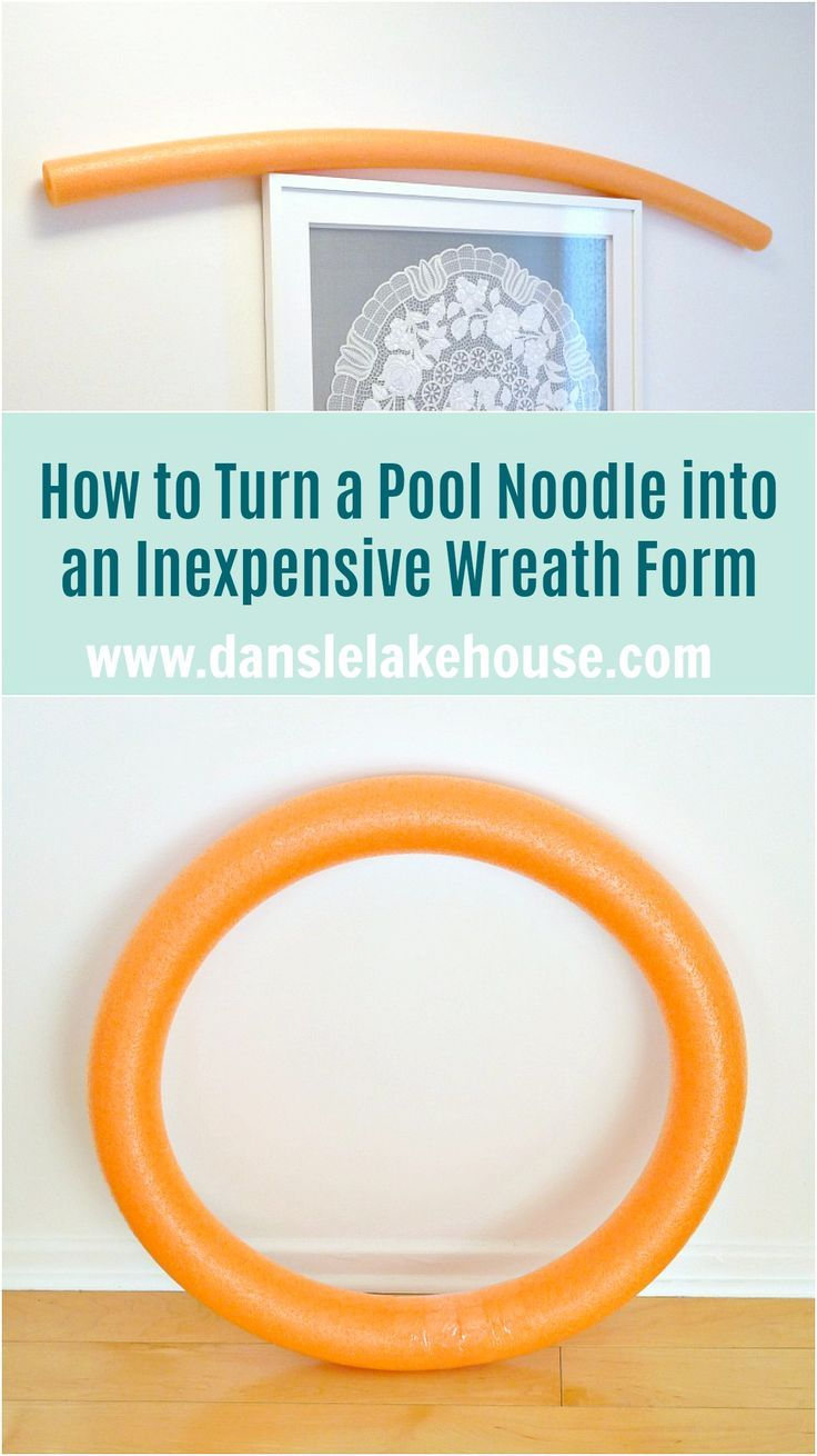 Pool Noodle Crafts Christmas Wreath Forms