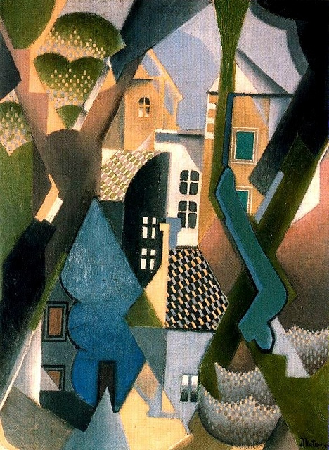 The Village, 1918. Jean Dominique Antony Metzinger was a major 20th-century French painter, theorist, writer, critic and poet, born in Nantes, France, who, along with Pablo Picasso, Georges Braque, and Albert Gleizes, developed the art style known as Cubism.:
