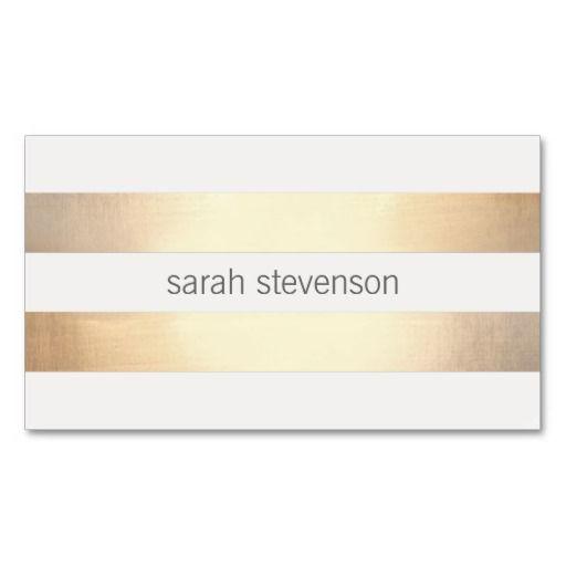 Chic Gold Foil Look Striped Modern Minimalist Business Cards http://www.zazzle.com/chic_gold_foil_look_striped_modern_minimalist_business_card-240127346456899593?rf=238194283948490074&tc=pfz