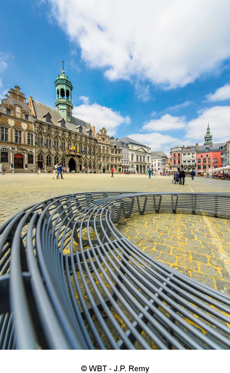 Grand-Place of Mons.  Mons 2015 European Capital of Culture. Wallonia, Belgium.