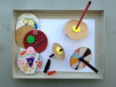 schaeresteipapier: Doodle- Kreisel selbst gemacht