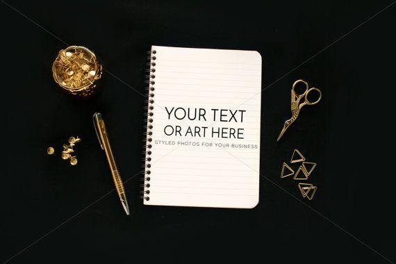 Styled Desktop Notepad Notepad Mock Up Paper Mock by confettibears