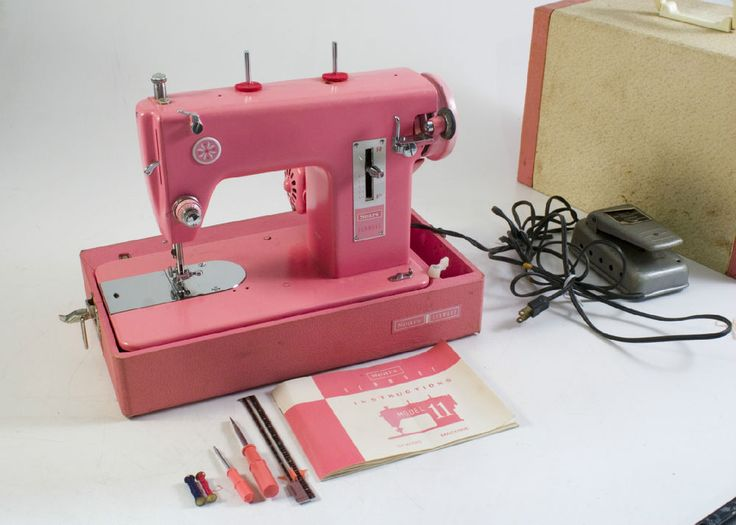 RARE Vtg HOT PINK Sears Kenmore sewing WORKING machine SO ...