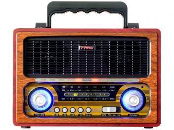 Caixa de Som Bluetooth Portátil TRC 213 Retrô 35W - USB MP3
