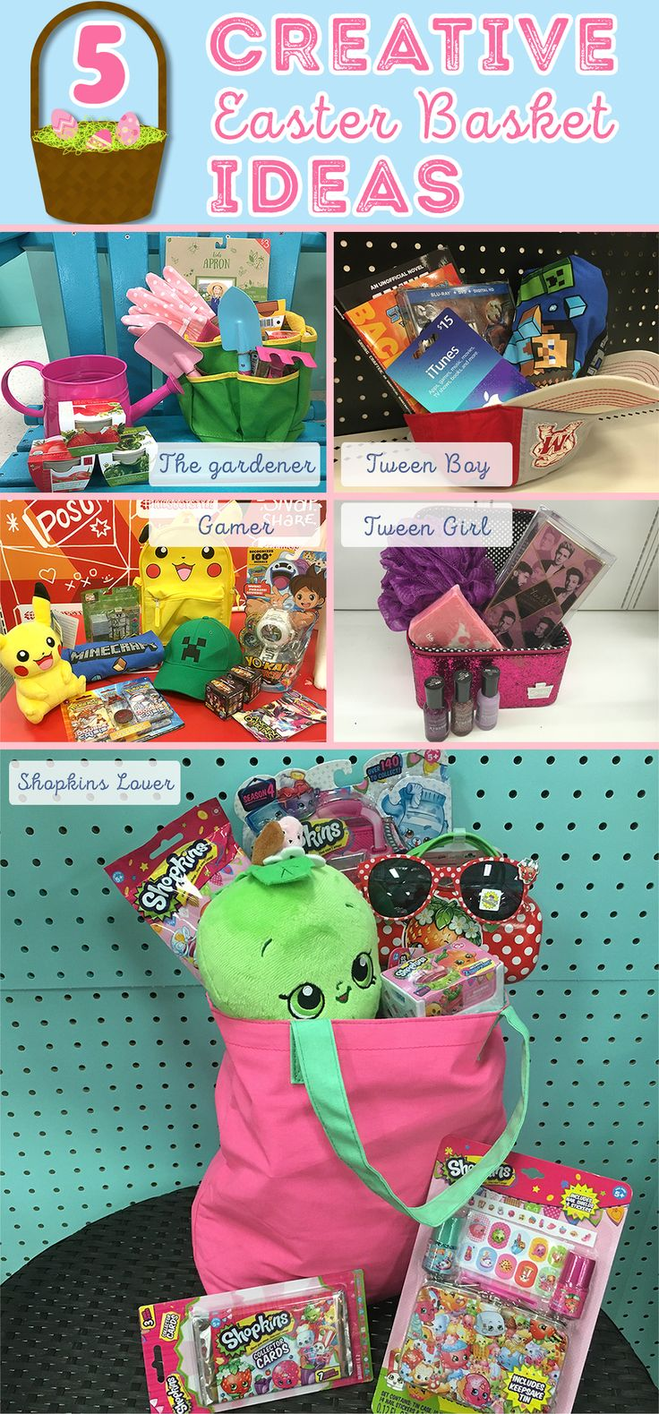 343 best easter images on pinterest candy bars chocolates and drink 5 candy free easter basket ideas to inspire you negle Choice Image