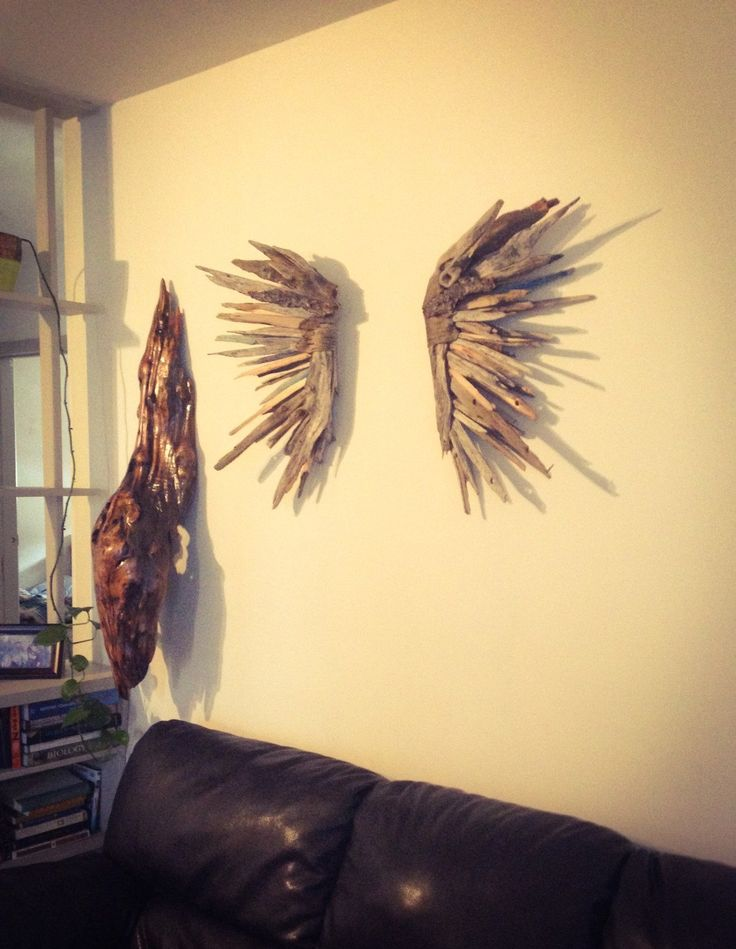 Driftwood Angel wing set,, Driftwood Sculpture, Wall Art, Reclaimed Driftwood, Driftwood Wing by EarthChildbyDesign on Etsy https://www.etsy.com/listing/218371226/driftwood-angel-wing-set-driftwood