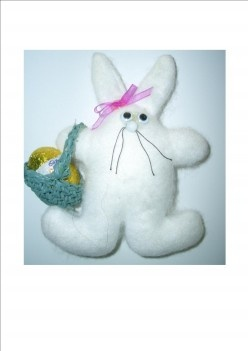 Easter rabbit. Easy to make. Great gift