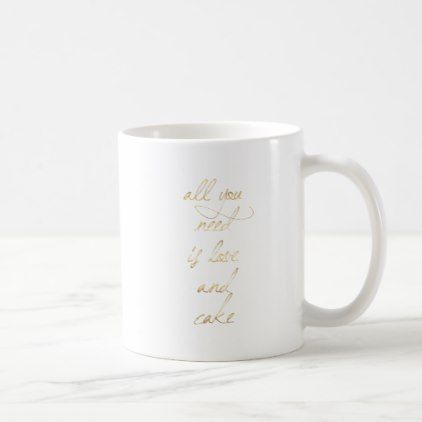 All You Need Is Love & Cake Coffee Mug - valentines day gifts love couple diy personalize for her for him girlfriend boyfriend