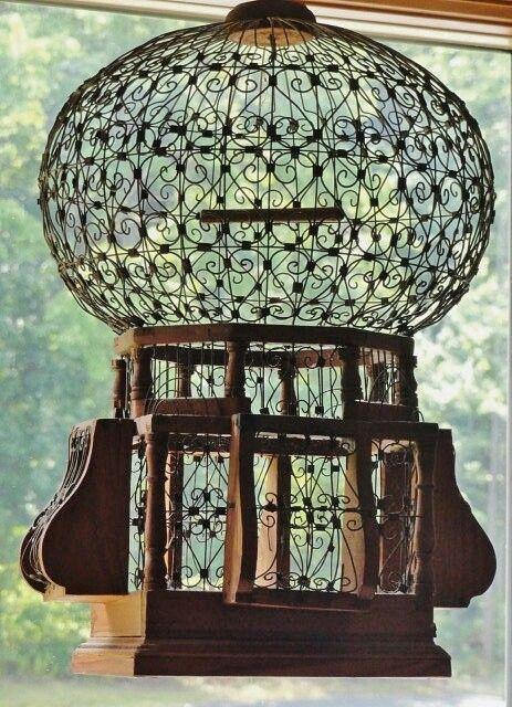 #Antique #bird #cages ⚪️More At FOSTERGINGER @ Pinterest