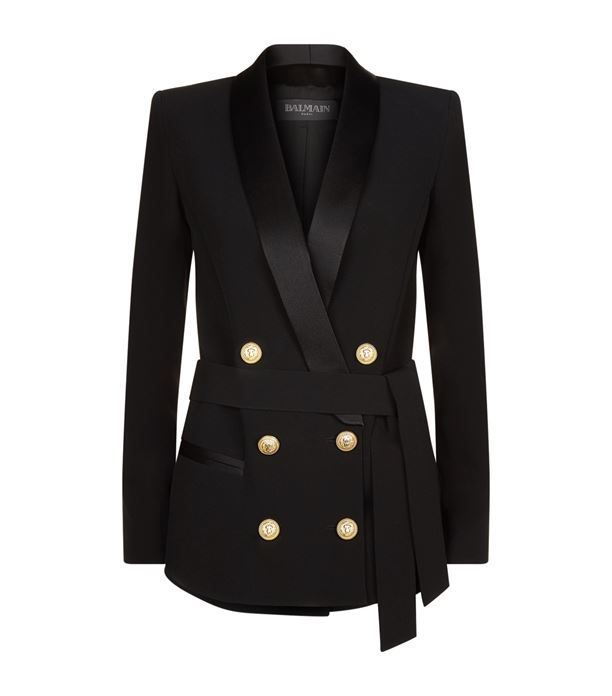 Balmain Crepe Double-Breasted Jacket available to buy at Harrods.Shop clothing online and earn Rewards points.
