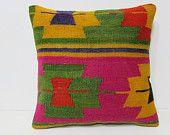 20x20 kilim pillow 20x20 large kelim rug large sofa pillow 20x20 couch pillow oversize pillow case oversized pillow cover pink pillow 27159