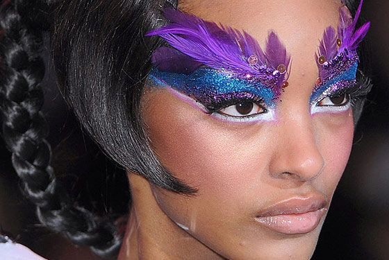 Beautiful Glitter Face makeup Looks | ... , Feathers, and Sequins Double As Makeup at Barbie - The Cut