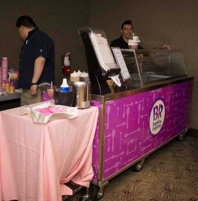 We all scream for ice cream!   Baskin Robbins is an amazing way to surprise your guests with another sweet treat.