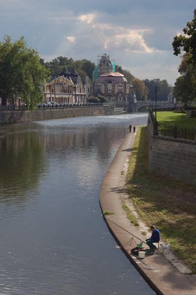 Hradec Kralove, fisherman, via Flickr.