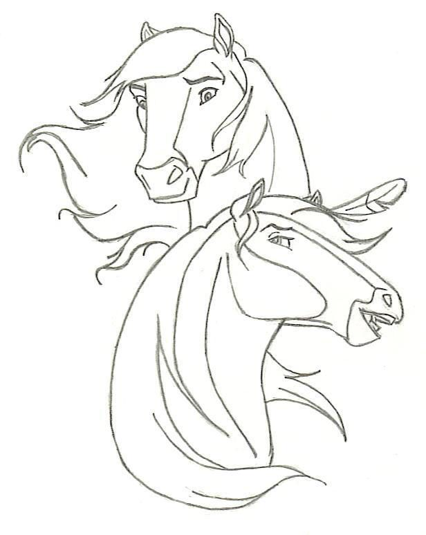 Spirit By Ccangel33 Horse Coloring Pages Spirit Drawing Horse Coloring
