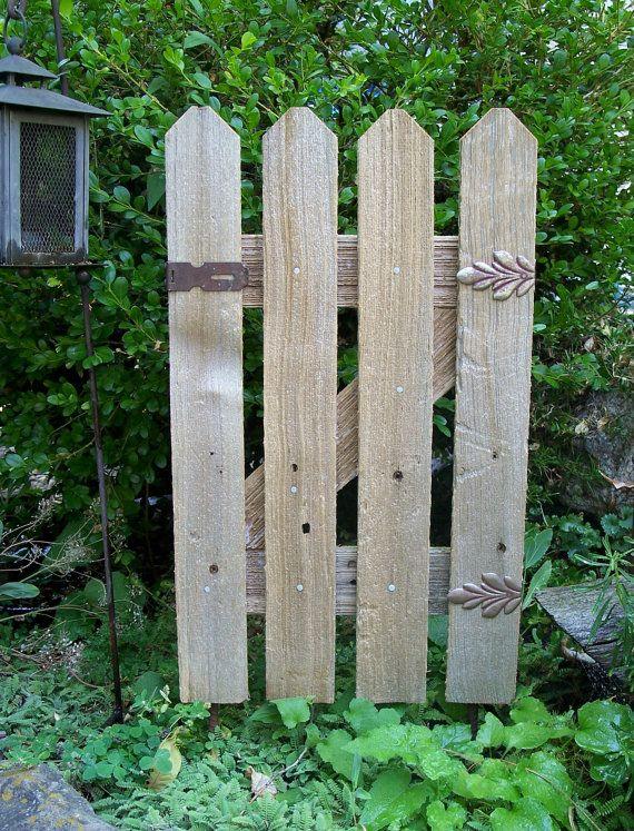 Garden Gate Decor Natural Cedar Fence Small Garden