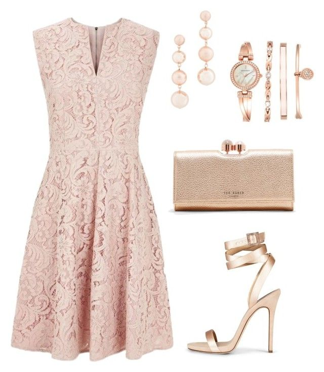 """""""Romantic Pink"""" by taniaisabel-1 on Polyvore featuring Burberry, Ted Baker, Rebecca Minkoff and Anne Klein"""