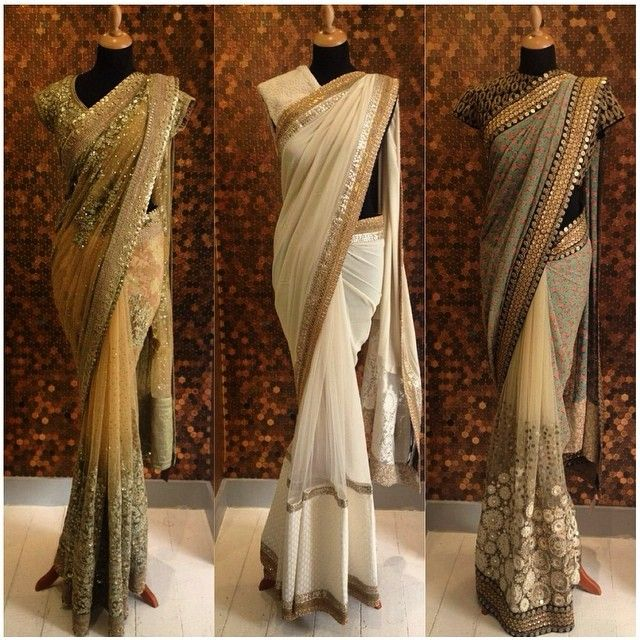 New & #festive arrivals from @sabyasachimukherjee! Prints & georgette make their way into store. Shop this limited collection now. - aashniandco.com #Indian #Couture #Sari