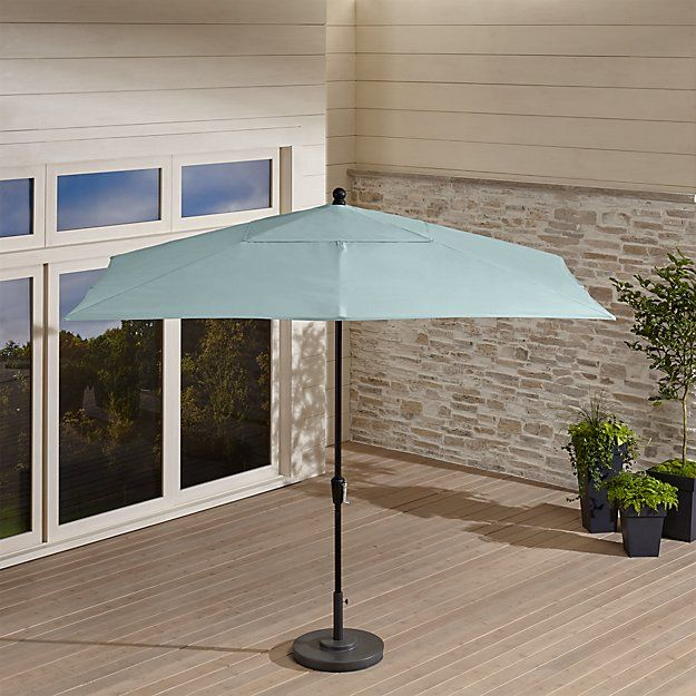 For Dining Area Rectangular Sunbrella Soft Mineral Patio Umbrella With Black Frame Rectangular Patio Umbrella Outdoor Patio Umbrellas Patio