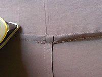 Die Französiche Naht wird bei sehr dünnen Stoffen und Seide verwendet. Die Französiche Naht, auch Rechts- Linksnaht genannt, sieht sehr gut bei transparenten und durchsichtigen Stoffen aus.