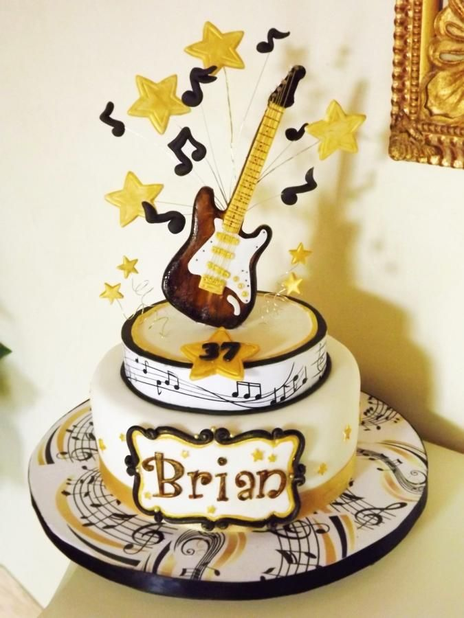 25 Best Ideas About Guitar Birthday Cakes On Pinterest
