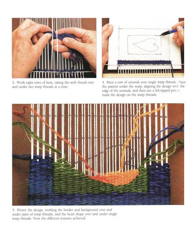 Tapestry weaving.