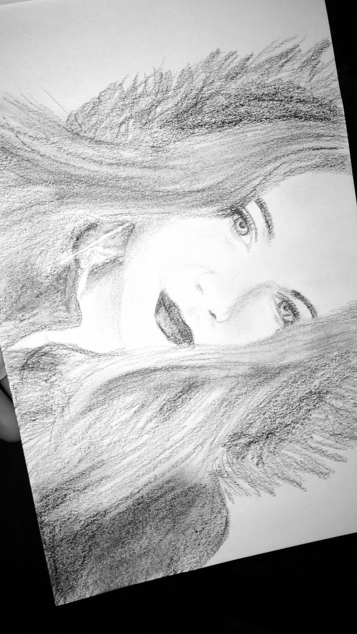Girl Drawing My sister Amelie May 2017 15 years old