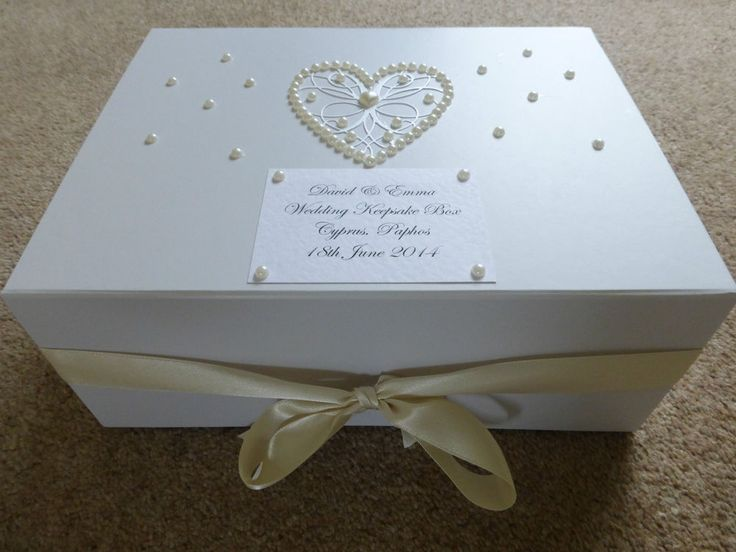 Large Ivory Wedding Keepsake Box Personalised Memory Box Ivory Pearl Stunning