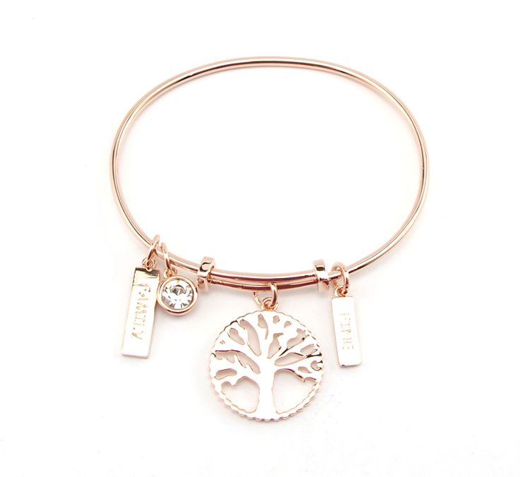 tree of life bangle by Morgan Rose: rose gold. Available at Wild Lily Empire
