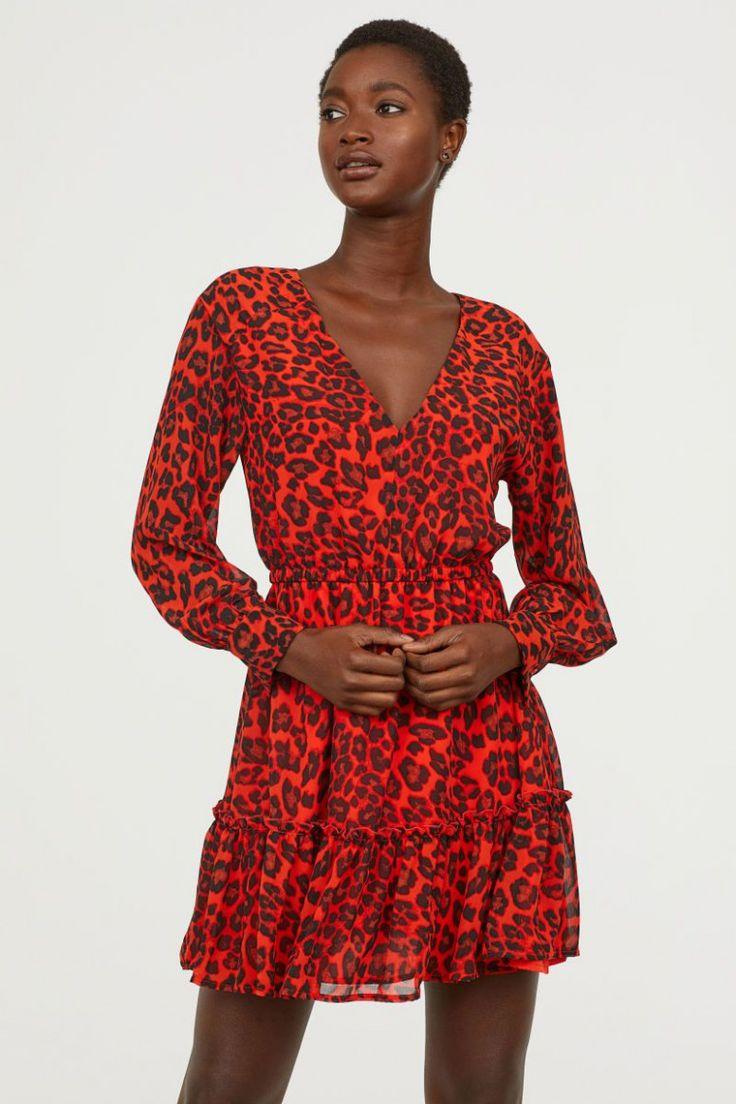 12 top image rote kleider damen in 2021 chiffon dress short